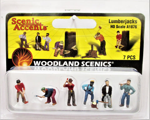 HO Scale Woodland Scenics A1876 Lumberjacks Figures (6) pcs