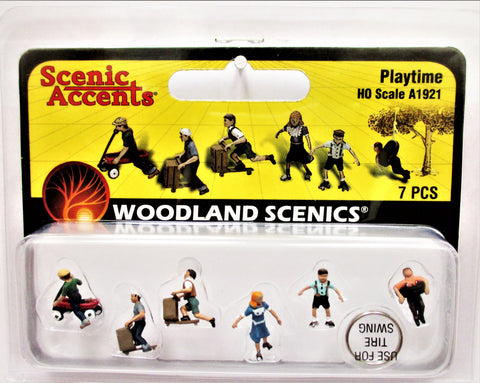 HO Scale Woodland Scenics A1921 Kids Children Playtime Figures (7) pcs