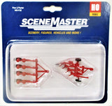 HO Scale Walthers Scene Master 949-4162 Red Farm Plow and Planter