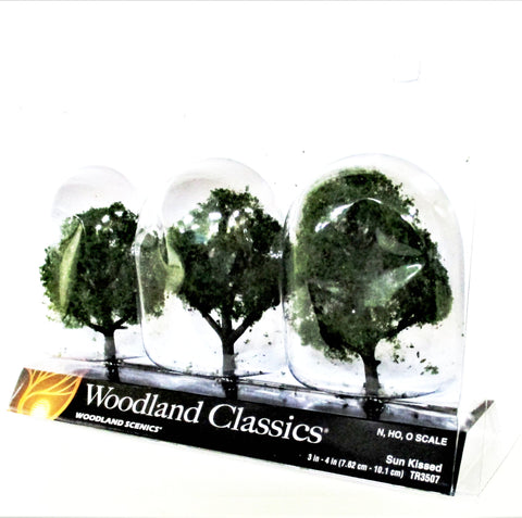 Woodland Classics Ready-Made Trees TR3507 Sun Kissed - 3/pkg