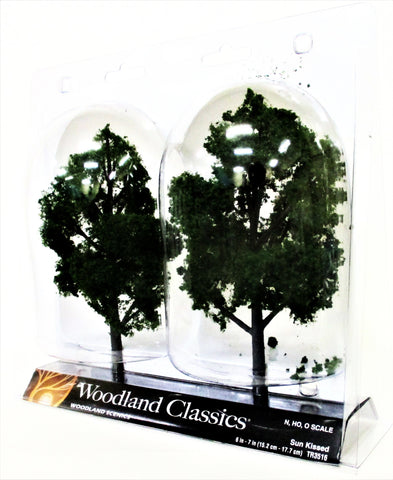 Woodland Classics Ready-Made Trees TR3516 Sun Kissed - 2/pkg