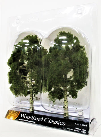 Woodland Classics Ready-Made Trees TR3538 Waters Edge - 2/pkg