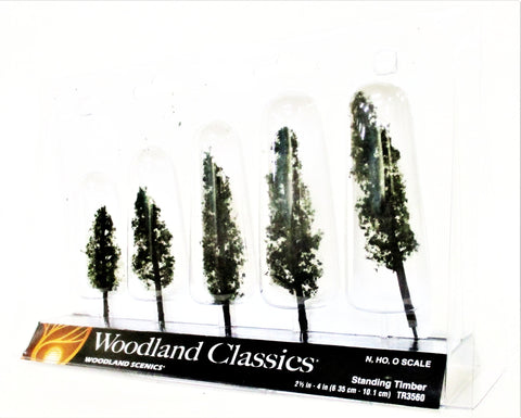 Woodland Classics Ready-Made Trees TR3560 Standing Timber - 5/pkg