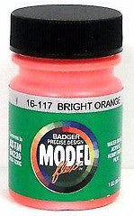 Badger Model Flex 16-117 Bright Orange 1 oz Acrylic Paint Bottle