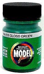Badger Model Flex 16-111 Gloss Green 1 oz Acrylic Paint Bottle