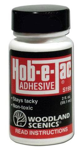 Woodland Scenics S195 Hob-e-Tac Adhesive 2 fl oz (59.1 mL) Bottle