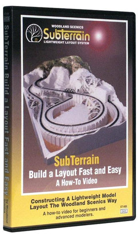 Woodland Scenics ST1400 SubTerrain: Build A Layout Fast and Easy DVD