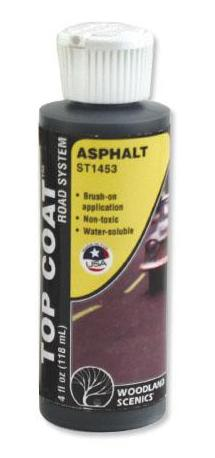 Woodland Scenics ST1453 Sub Terrain System Asphalt Top Coat 4 oz Bottle