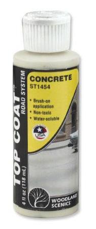 Woodland Scenics ST1454 Sub Terrain System Concrete Top Coat 4 oz Bottle