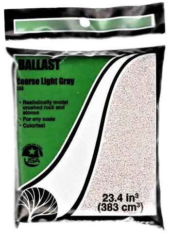 Woodland Scenics B88 Coarse Light Gray Ballast 18 cubic Inch Bag