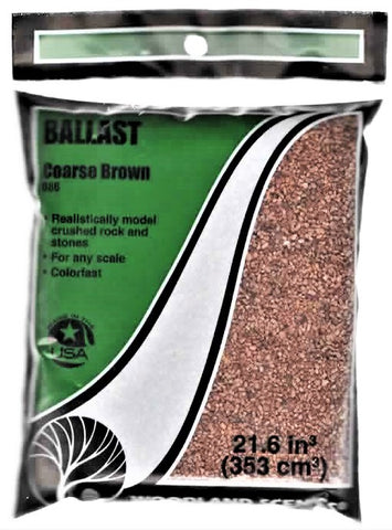 Woodland Scenics B86 Coarse Brown Ballast 18 cubic Inch Bag