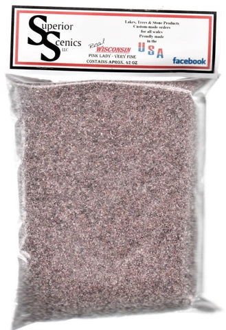 Superior Scenics CNW Chicago Northwestern Pink Lady Very Fine Ballast 42 oz Bag