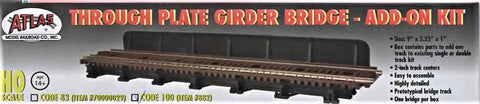 HO Scale Atlas 882 Through Plate-Girder Bridge w/Code 100 Track Add-On