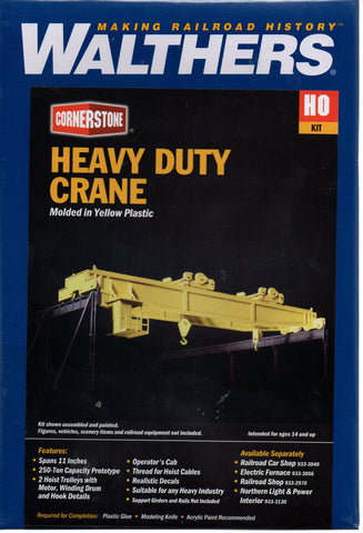HO Scale Walthers Cornerstone 933-3150 Heavy-Duty Overhead Crane Kit