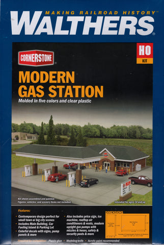 HO Scale Walthers Cornerstone 933-3538 Modern Travel Center Building Kit