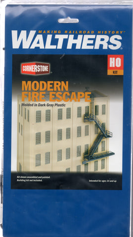 HO Scale Walthers Cornerstone 933-3736 Modern Fire Escape Kit