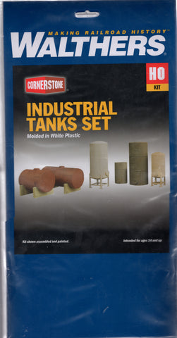HO Scale Walthers Cornerstone 933-3197 Industrial Tanks Detail Set