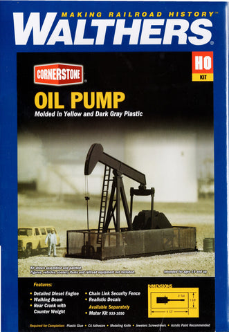 HO Scale Walthers Cornerstone 933-3170 Walking Beam/Horse Head Oil Pump Kit