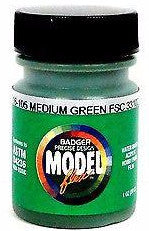 Badger Model Flex 16-105 Medium Green FSC33102 1 oz Acrylic Paint Bottle