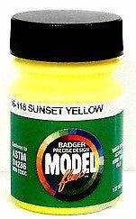 Badger Model Flex 16-118 Sunset Yellow 1 oz Acrylic Paint Bottle