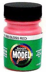 Badger Model Flex 16-108 Gloss Red 1 oz Acrylic Paint Bottle