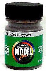 Badger Model Flex 16-113 Gloss Brown 1 oz Acrylic Paint Bottle