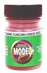 Badger Model Flex 16-13 Dark Tuscan Oxide Red 1 oz Acrylic Paint Bottle