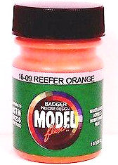 Badger Model Flex 16-09 Reefer Orange 1 oz Acrylic Paint Bottle