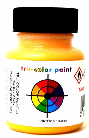 Tru-Color TCP-297 LIRR Long Island Railroad Yellow 1 oz Paint Bottle