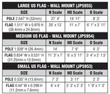 All Scale Woodland Scenics JP5955 Just Plug Large Waving US Flag Wall Mount