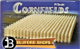 N Scale Bluford Shops #102 Autumn Harvest 1120 Stalks Cornfield Kit