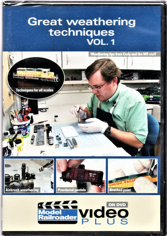 Kalmbach 15323 Model Railroader Great Weathering Techniques Vol. #1 DVD