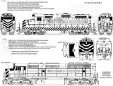 HO Scale Microscale 87-762 Wisconsin & Southern WSOR Locomotives Decal Set