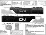 HO Scale Microscale 87-1073 Canadian National CN SD70 & SD75I Diesels Decal Set