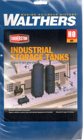 HO Scale Walthers Cornerstone 933-3514 Industrial Storage Tanks Kit
