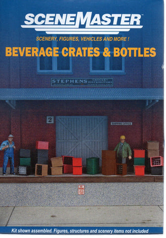 HO Scale Walthers SceneMaster 949-4153 Beverage Crates and Bottles Kit