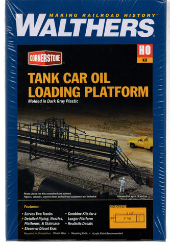 HO Scale Walthers Cornerstone 933-3104 Tank Car Oil Loading Platform Kit