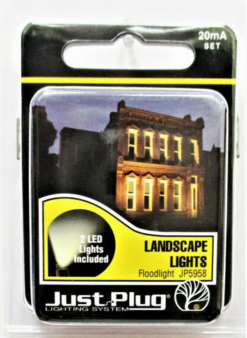 All Scale Woodland Scenics JP5958 Just Plug LED Landscape Floodlight pkg(2)