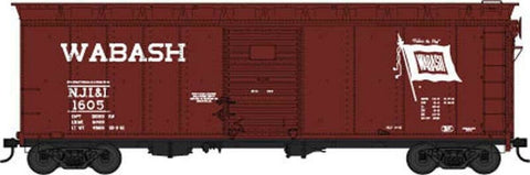 HO Scale Bowser 42461 Wabash NJI&I 1605 40' Single-Door Steel Flour Boxcar