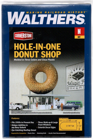 N Scale Walthers Cornerstone 933-3835 Hole-In-One Donut Shop Building Kit