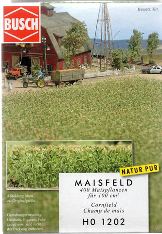 HO Scale Busch Gmbh & Co Kg 1202 Corn Field Kit -3-15/16 x 3-15/16""