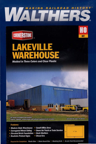 HO Scale Walthers Cornerstone 933-2917 Lakeville Modern-Style Warehouse Kit
