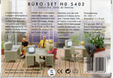 HO Scale Busch Gmbh & Co Kg 5402 Office Set w/ Lighted Computer Workstations