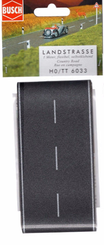 HO Scale Busch Gmbh & Co 6033 Flexible Self Adhesive Asphalt Country Road