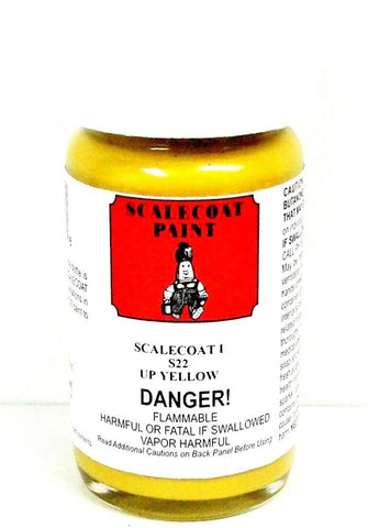 Scalecoat I S1022 UP Union Pacific Armor Yellow 2 oz Enamel Paint Bottle