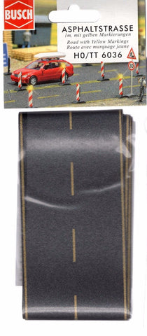 HO Scale Busch Gmbh & Co 6036 Flexible Self Adhesive Asphalt Country Road