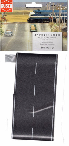 HO Scale Busch Gmbh & Co 9710 Flexible Self Adhesive 2-Lane Paved Highway