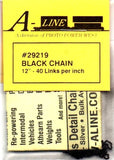 "HO Scale A Line Product 29219 Pre-Blackened Brass Chain - 12"" 30.5cm"