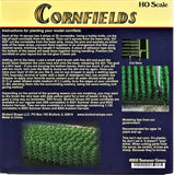 HO Scale Bluford Shops #203 Summer Green 1120 Stalks Cornfield Kit