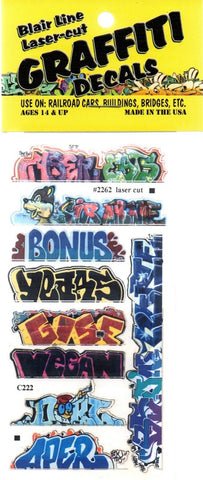 HO Scale Blair Line 2262 Graffiti Decals Mega Set #13 (9) pcs